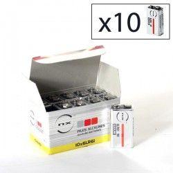 Enix - Boite 10 piles Alcaline 6LR61 NX 9V 0,68Ah