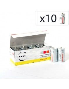Enix - Boite 10 piles Alcaline LR14 NX 1,5V 9,3Ah