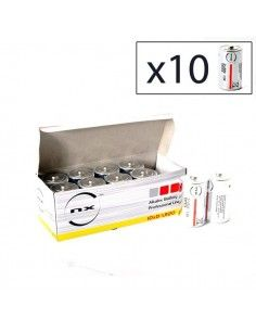 Enix - Boite 10 piles Alcaline LR20 NX 1,5V 19,76