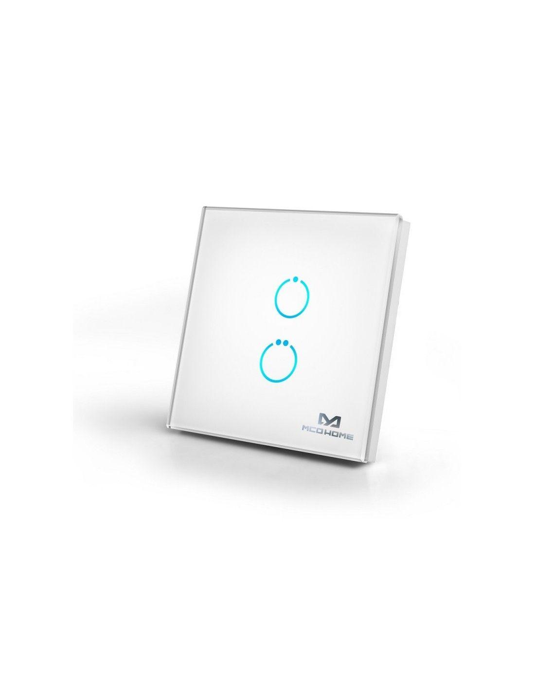 mco home schalter touch panel z wave 2 tasten weiss mh s412. Black Bedroom Furniture Sets. Home Design Ideas