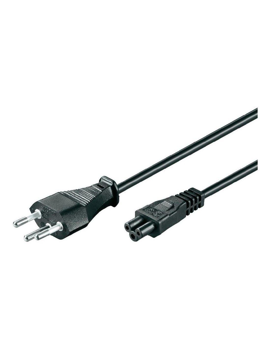 computer-kabel mit männlichem schweizer stecker, schwarz (mickey