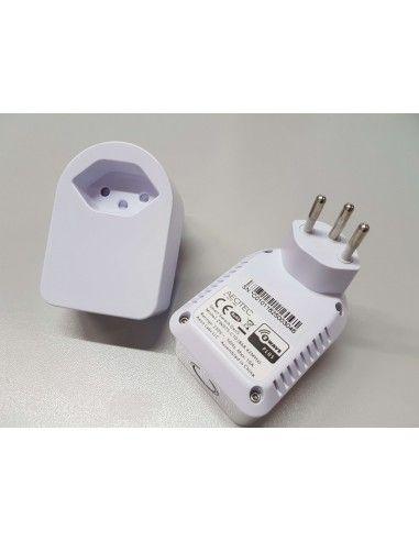 Aeon Labs - Prise ON/OFF Suisse Z-Wave+ avec mesure d'énergie (GEN5). Version modifiée pour prise triple