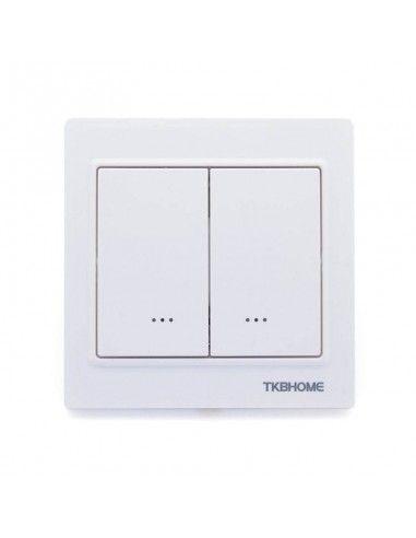 tkb home doppel schalter 1 last z wave weiss tz56d zw5. Black Bedroom Furniture Sets. Home Design Ideas