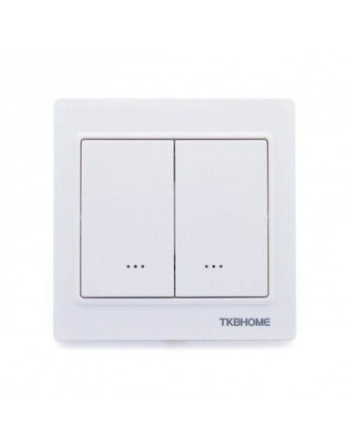 Tkb Home Double Switch Single Charge Z Wave Plus White