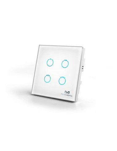 mco home interrupteur tactile z wave 4 charges blanc mh s314 5. Black Bedroom Furniture Sets. Home Design Ideas