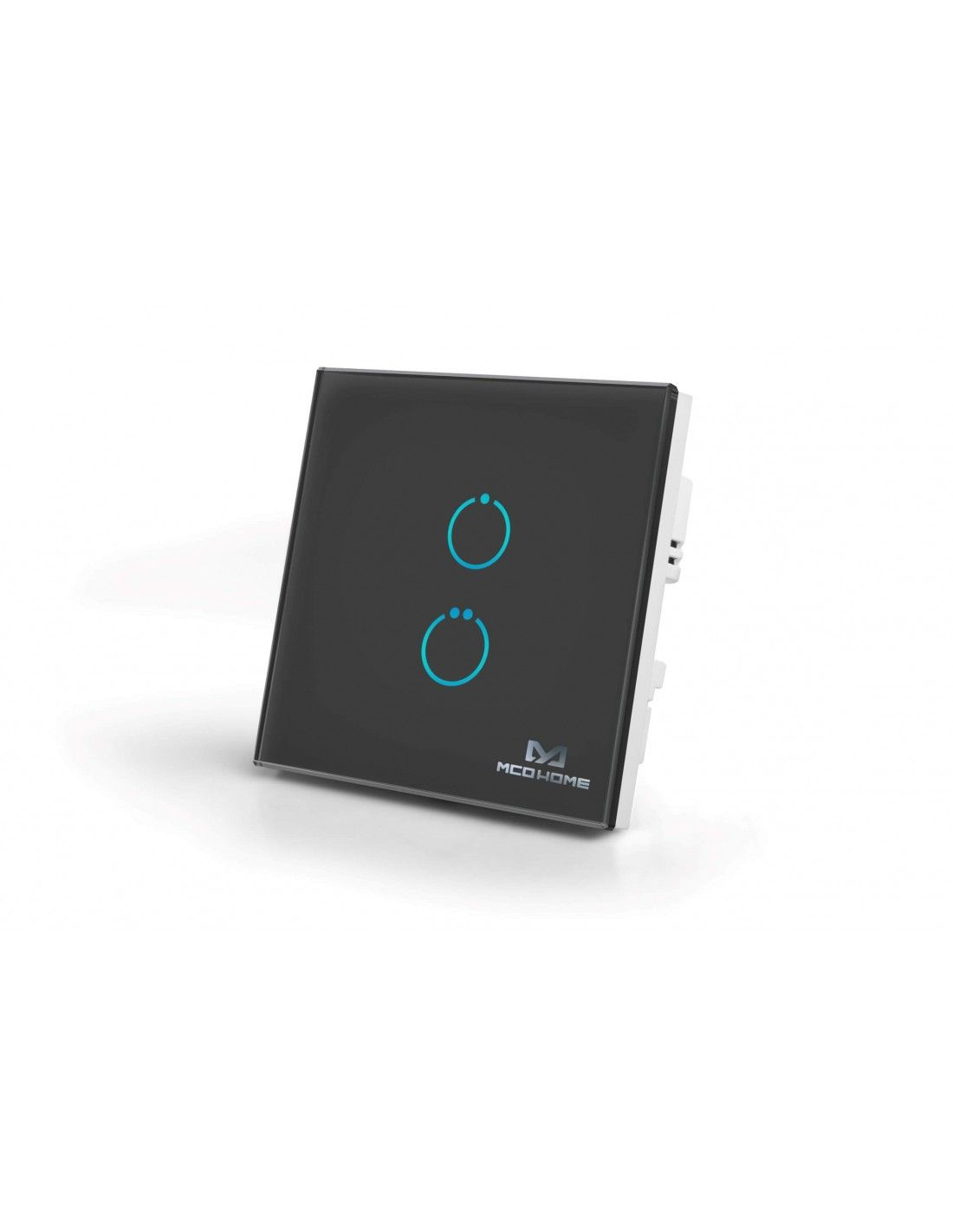 MCO Home - Schalter Touch Panel Z-Wave 2 Tasten, Schwarz (MH-S412B)