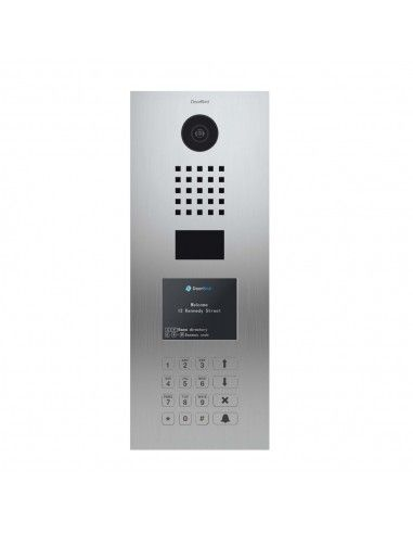 Doorbird - IP Video Door Station D21DKV - Display Module Keypad Module and RFID - Brushed Stainless Steel  sc 1 st  Domo-Supply - Swiss-Domotique & Doorbird - IP Video Door Station D21DKV - Display Module Keypad ...