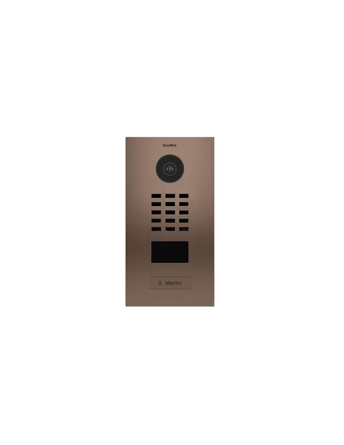 Doorbird portier vid o connect d2101bv 1 sonnette avec lecteur de badge rfid finition bronze - Portier video connecte ...