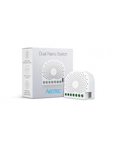 aeotec mikromodul 2 relais schalter und z hler z wave plus dual nano switch with energy metering. Black Bedroom Furniture Sets. Home Design Ideas